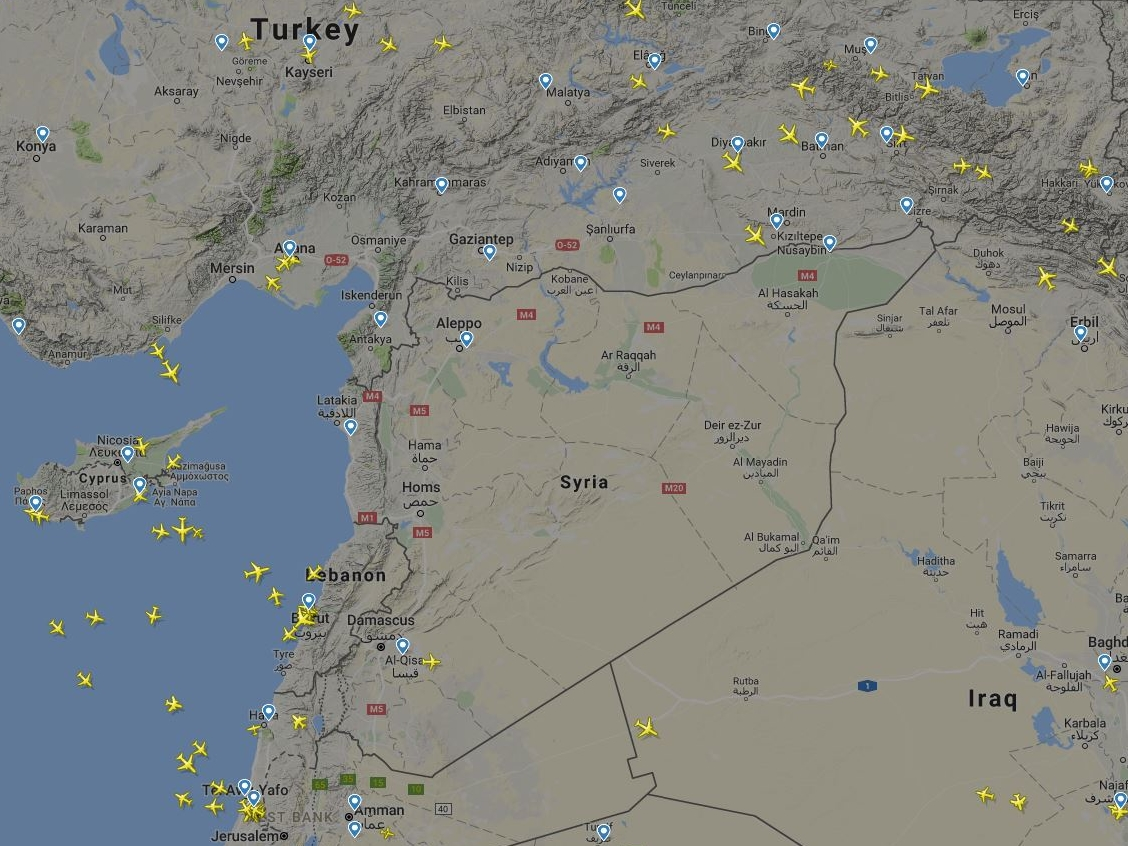 """Евроконтроль предупредил о """"возможных авиаударах по Сирии в следующие 72 часа"""""""