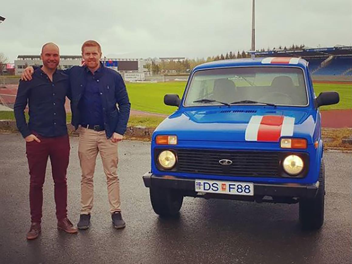 """Викинги на """"Ниве"""": исландцы едут на ЧМ на российском """"джипе"""" (видео)"""