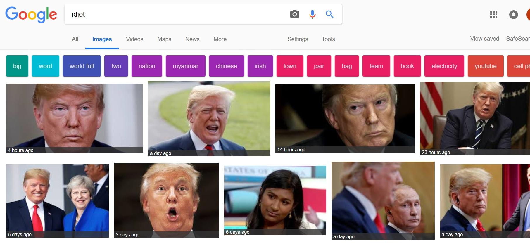 Результаты поиска идиота