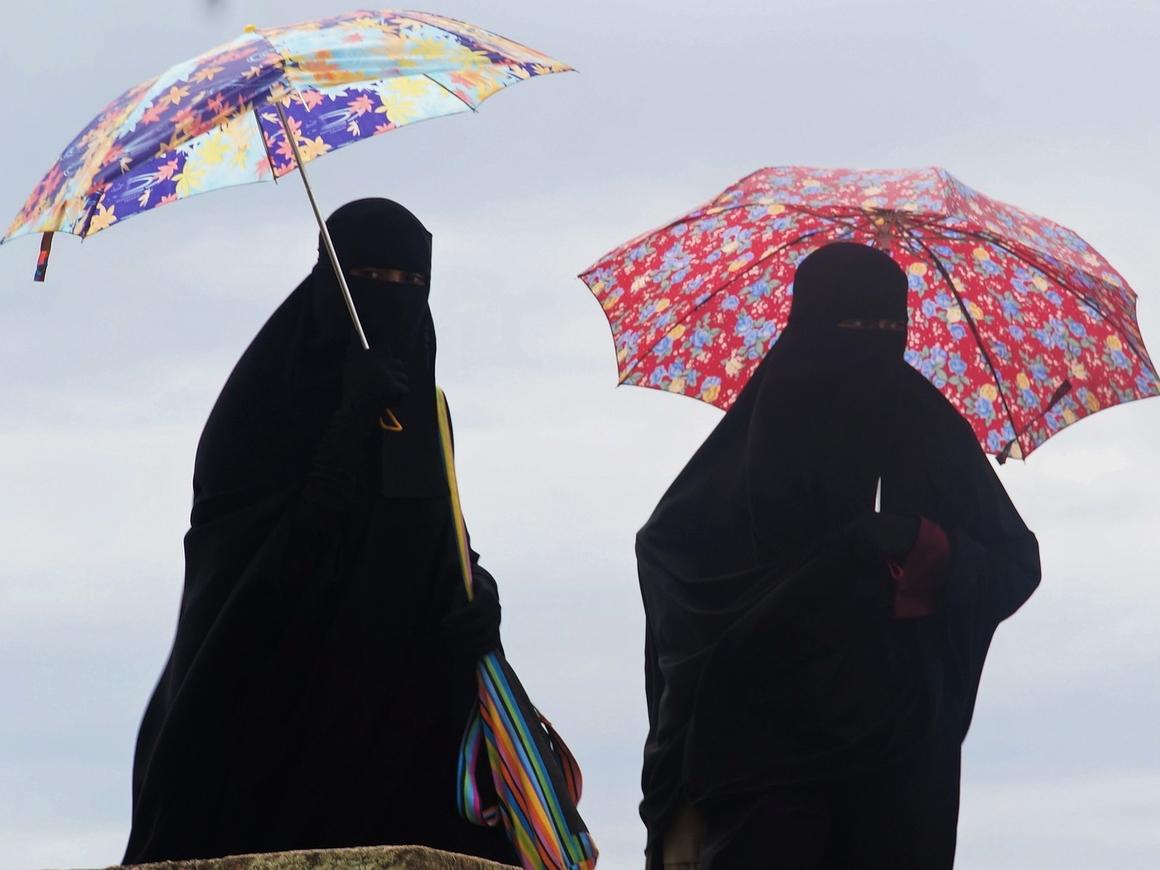 В Дании люди в никабах протестуют против запрета носить никаб