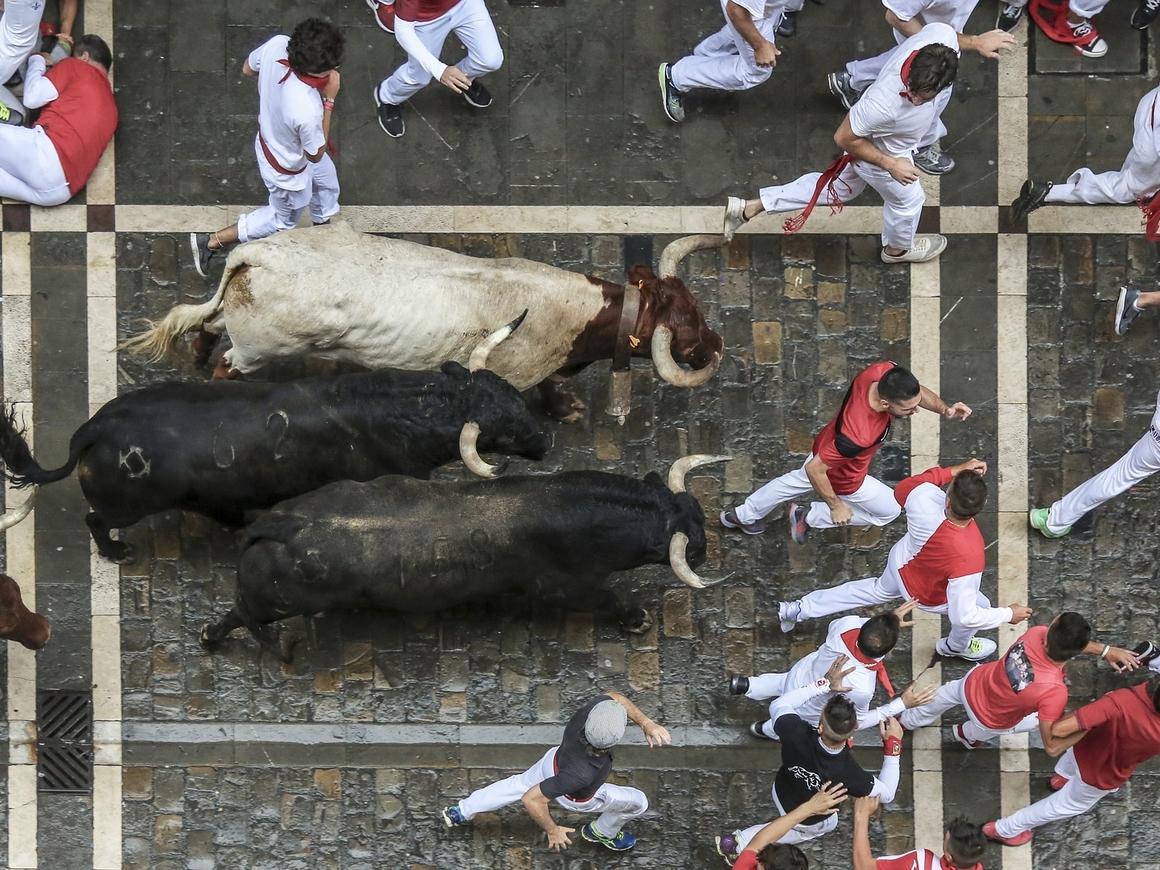 Шары вместо быков: бравые испанцы отказываются праздновать в безопасных условиях