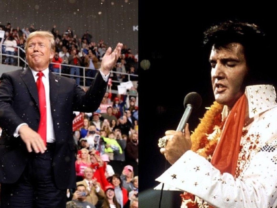 Дональд Трамп считает, что он как Элвис Пресли. По крайней мере, был