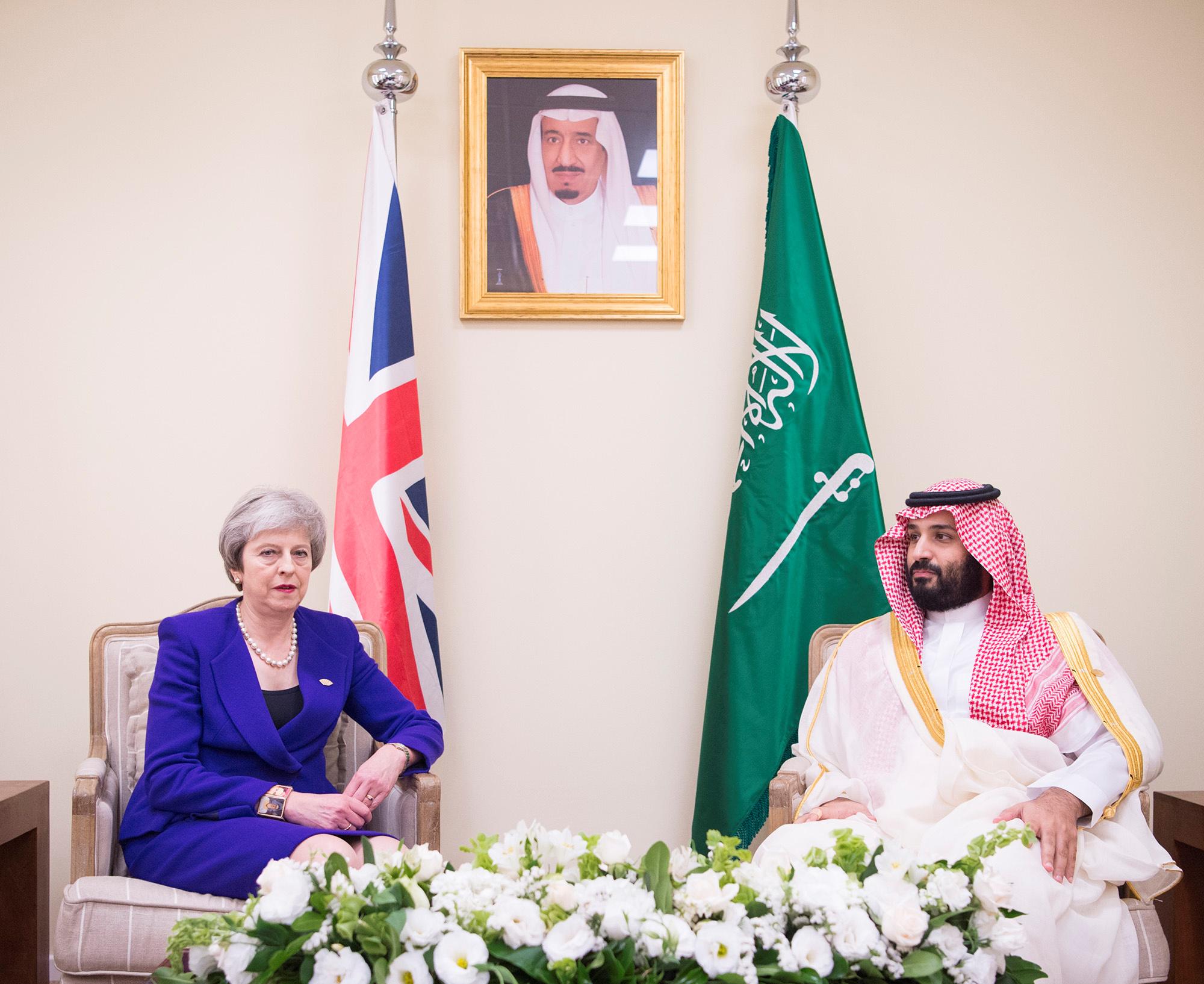 Тереза Мэй и Мохаммед бин Салман на G20