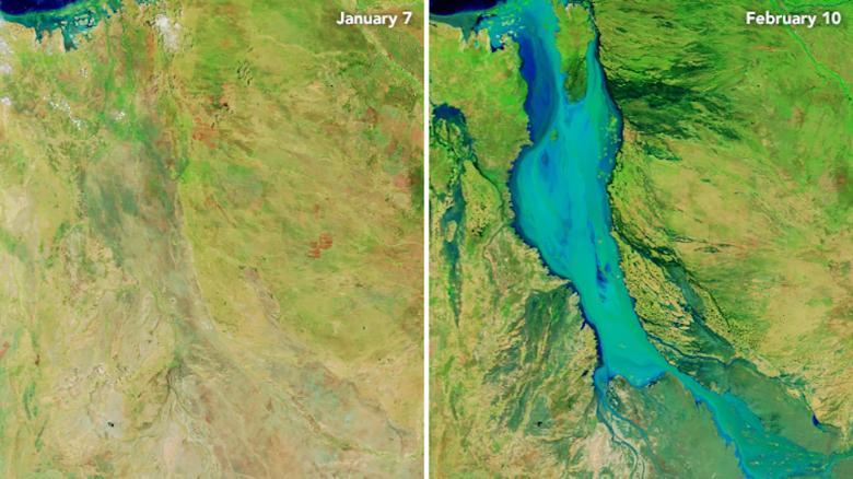 За месяц Флиндерс набрала 60 км воды