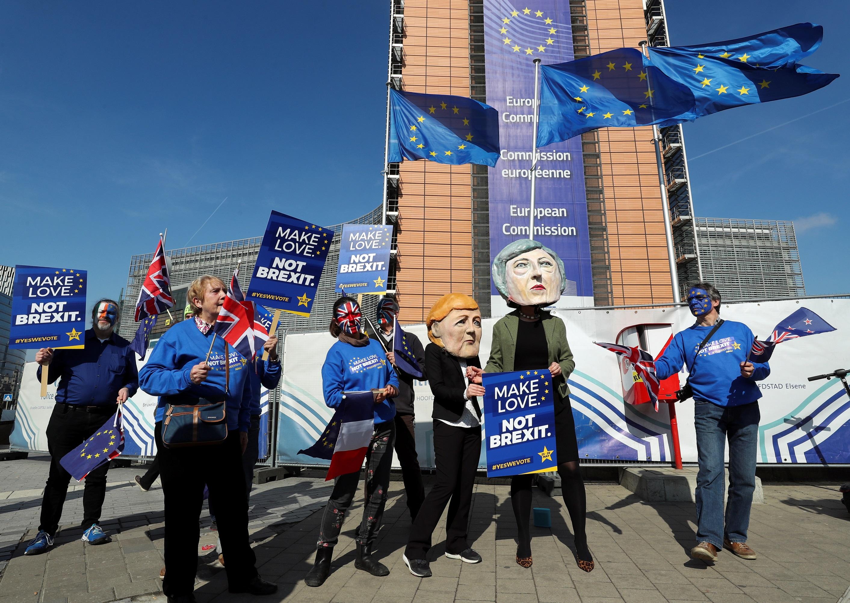Демонстрация против Брексита в Брюсселе