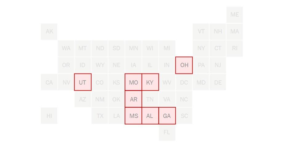 Штаты с самыми жёсткими сроками абортов