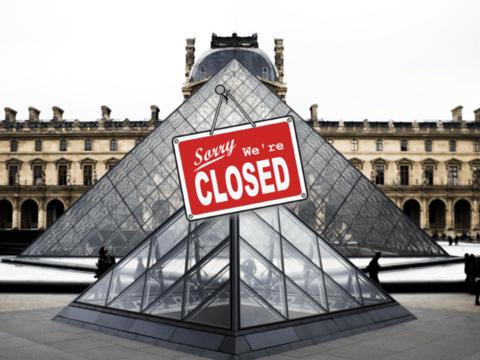 Лувр пришлось закрыть, ведь там просто некому работать: сотрудники бастуют
