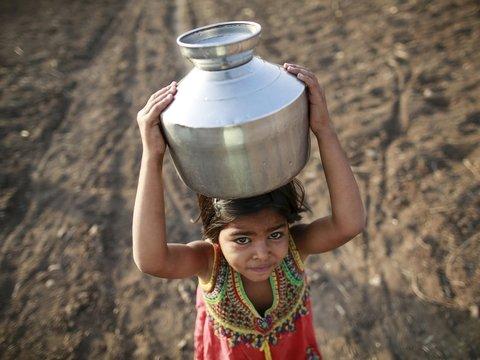 В Индии страшная засуха: за воду дерутся люди и обезьяны