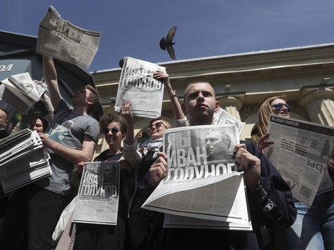 В День России прошёл марш в поддержку Ивана Голунова. Главное (фото, видео)