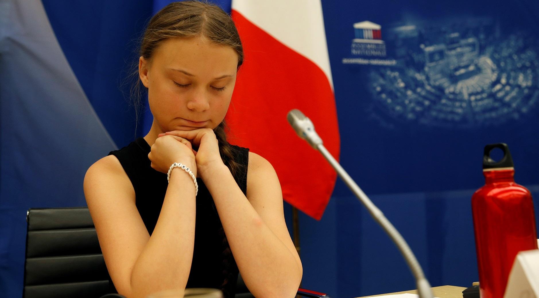 Грета Тунберг на дебатах в Национальном собрании Франции
