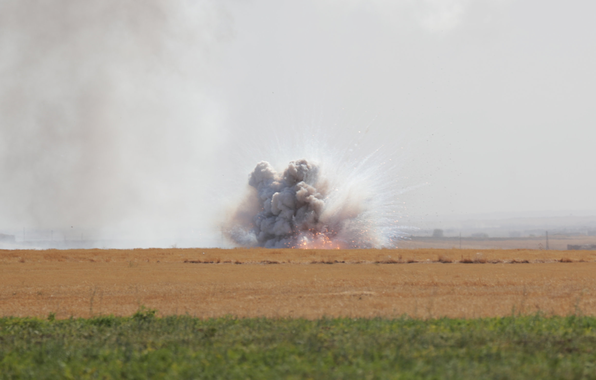 Взрыв у пограничного города Тель-Абьяд