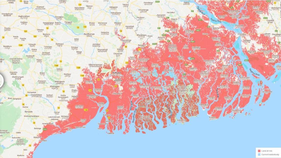 Новые данные и затопленные к 2050-му территории