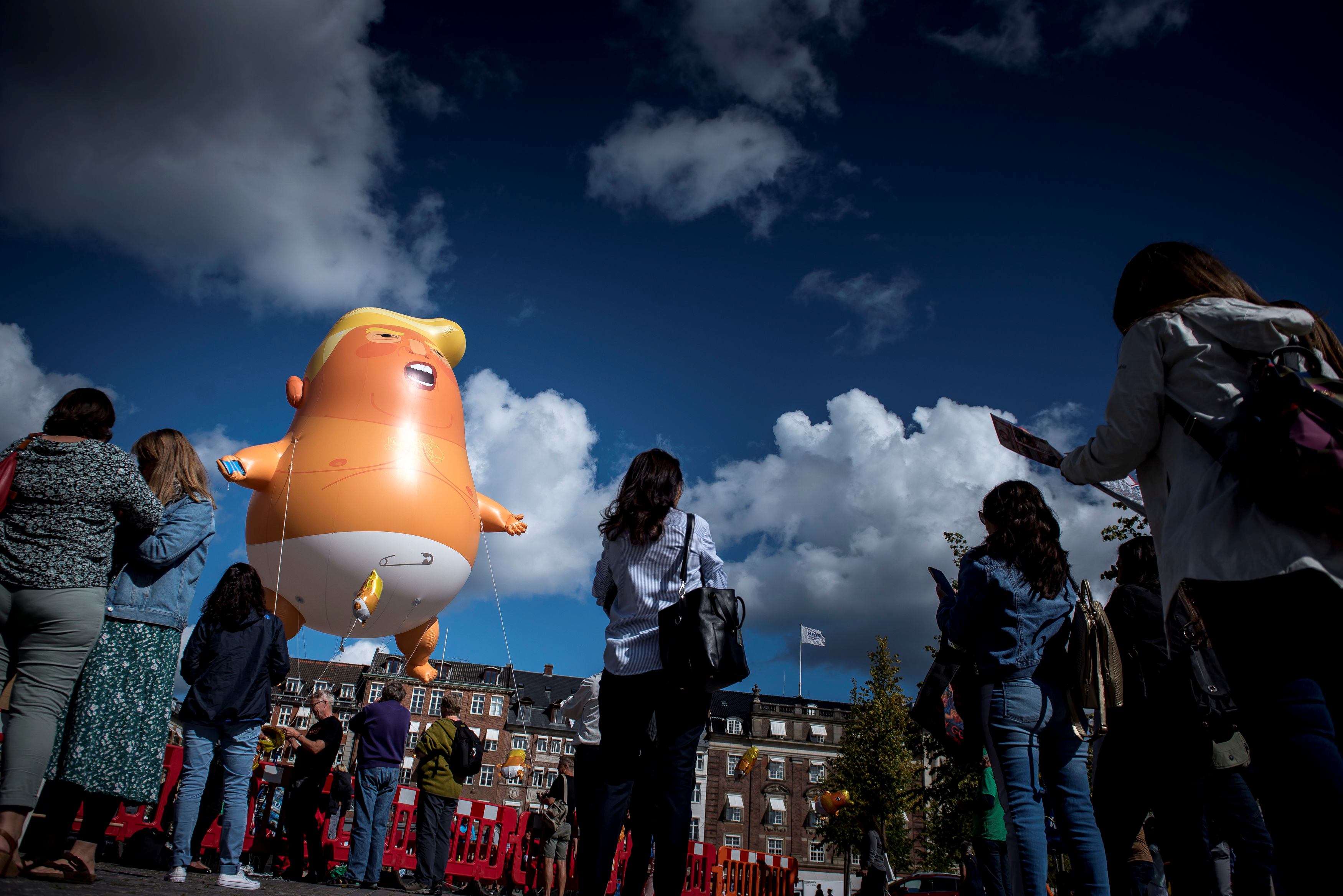 """Малыш Трамп"" в Копенгагене"