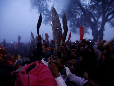 Кровопролитие во имя религии: индусы массово убивают животных несмотря на запрет