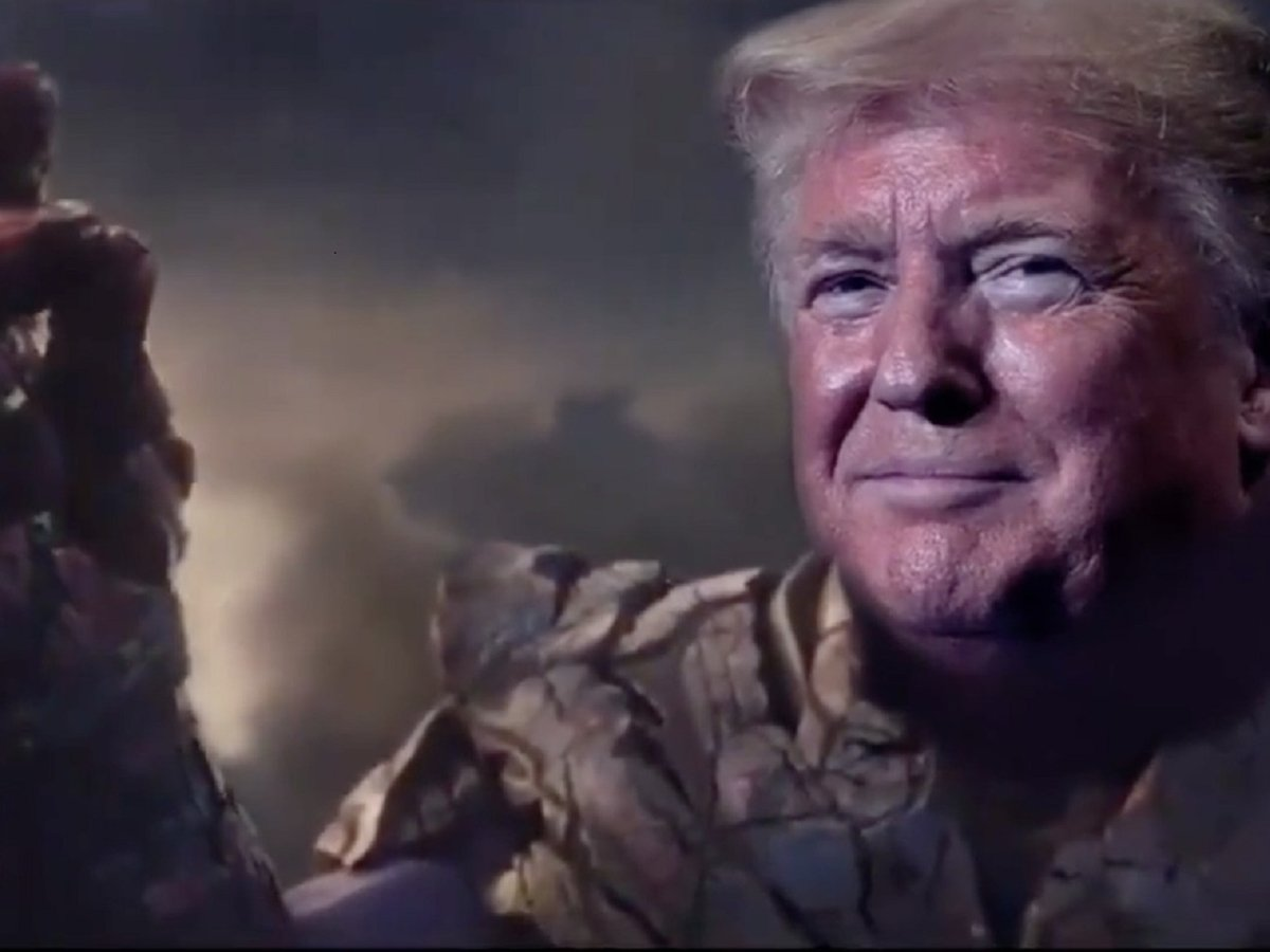 """""""Я сама неотвратимость!"""" — на выборы-2020 Дональд Трамп пойдёт в костюме Таноса"""
