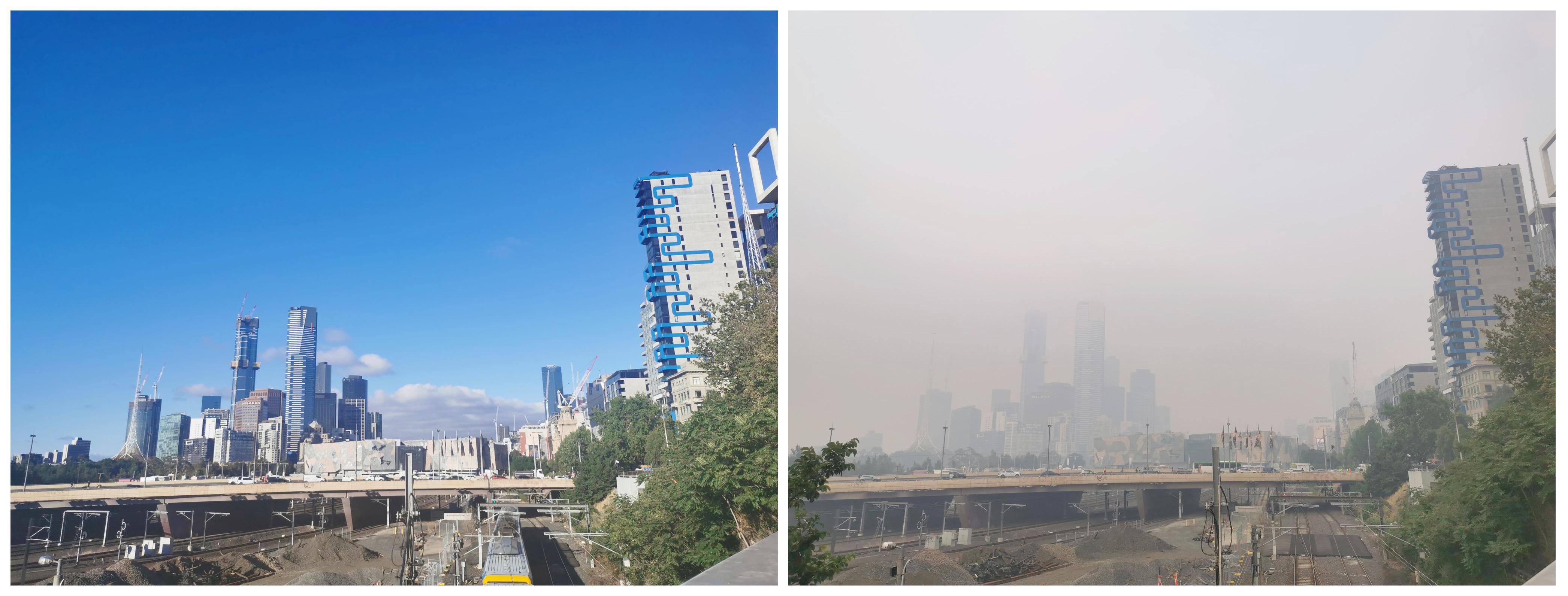 Как за пару дней изменилось небо в Мельбурне