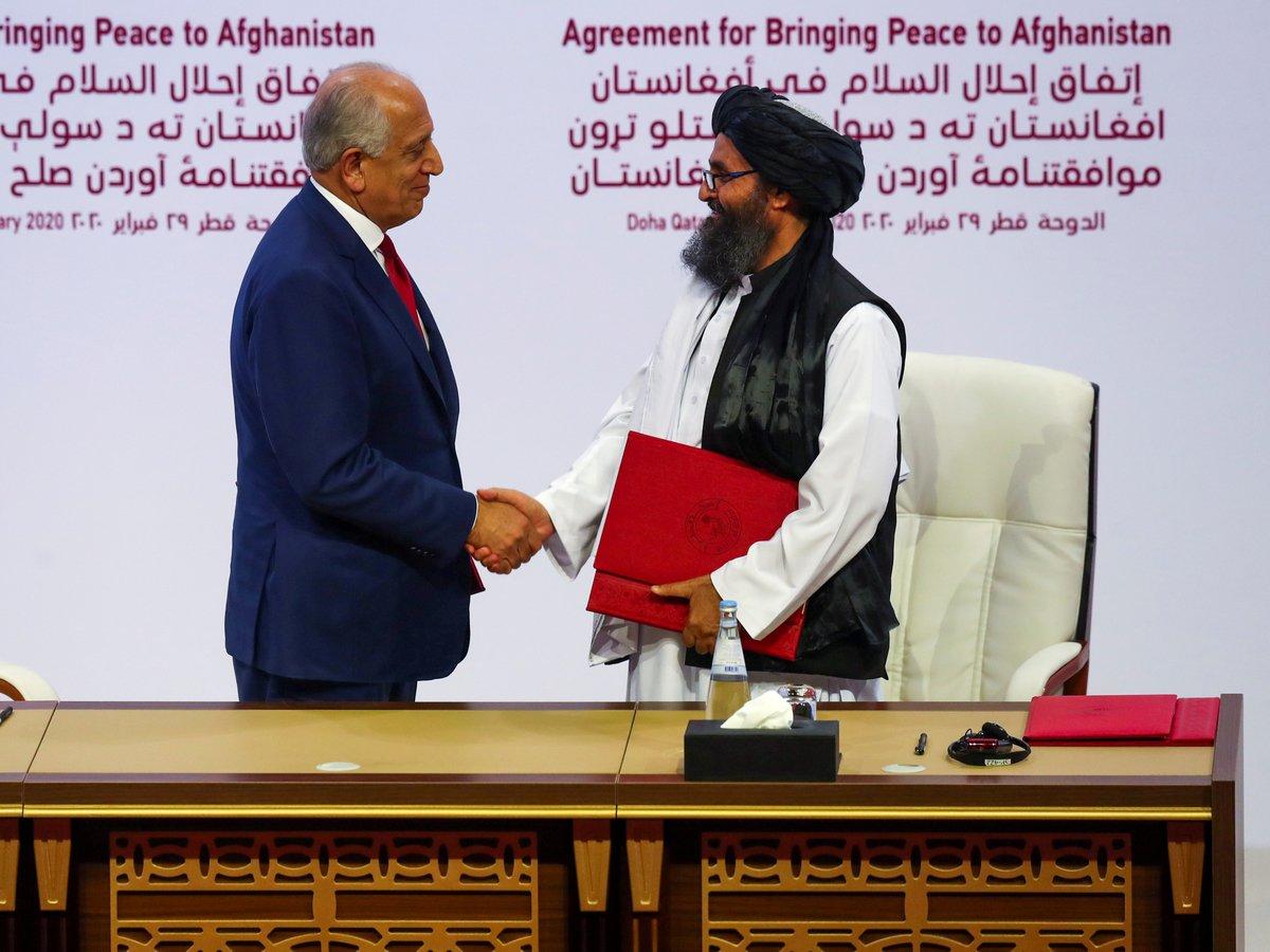"""США и """"Талибан"""" подписали соглашение о выводе войск и начале мирного процесса"""