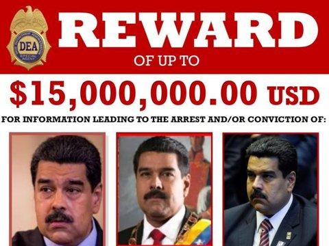 США обвинили президента Венесуэлы в наркотерроризме и назначили за него награду
