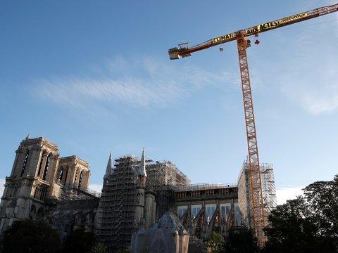 Нотр-Дам восстановят, а пока его используют экоактивисты для своих акций (фото)