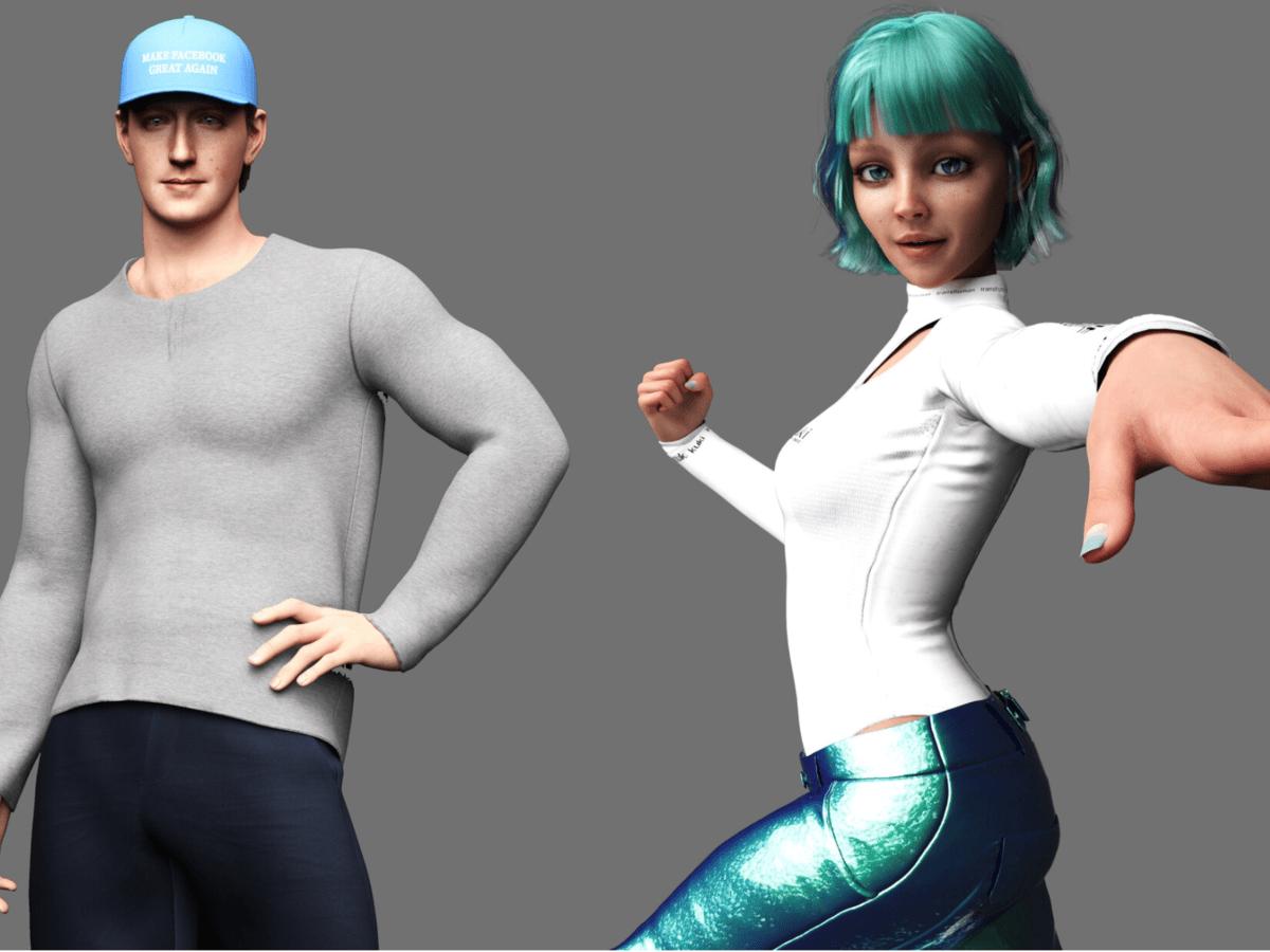 Битва чат-ботов: мускулистый Цукерберг против синеволосой девушки